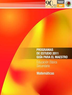 Calaméo - Programa de estudio Matemáticas Secundaria