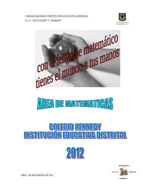Calaméo - Proyecto curricular área de matemáticas CDK