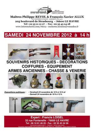 calam o francis loisel expert armes anciennes vente aux encheres le 24 novembre 2012. Black Bedroom Furniture Sets. Home Design Ideas
