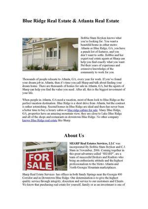 Calaméo - Cabins for sale in Blue Ridge GA