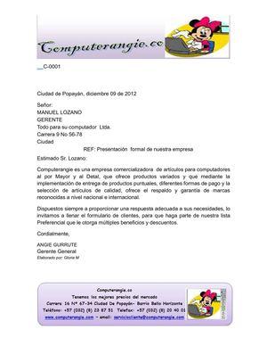 carta empresarial