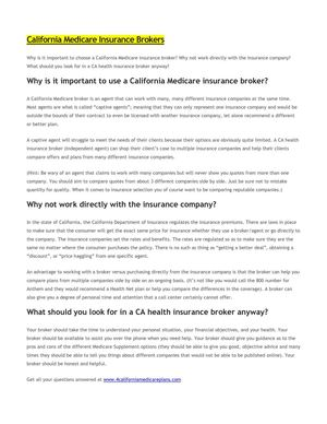 California Medicare Brokers