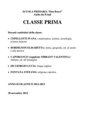 Calaméo Classe Prima