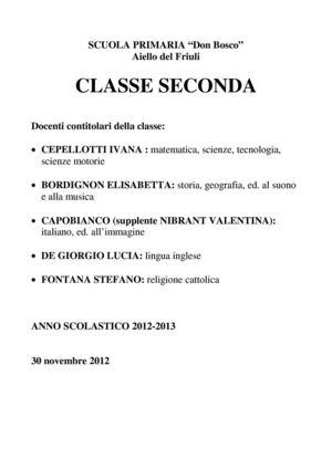 Calameo Classe Seconda