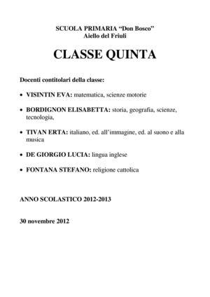 Calaméo Classe Quinta