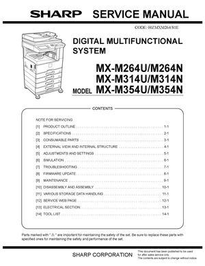 calam o service manual 264 314 354 rh calameo com sharp mfp service manual sharp copier service manual
