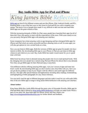 Calaméo - Buy Audio Bible App for iPad and iPhone