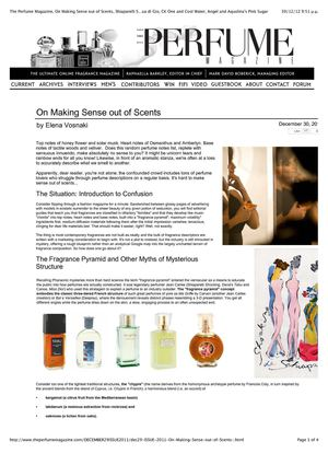Calaméo - On Making Sense out of Scents (FIFI finalist, The