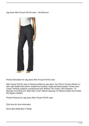 Calaméo Jag Jeans Attie Trouser Pull On Jean Promo Offer