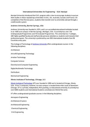 Calaméo - International Universities for Engineering – ICAS Manipal