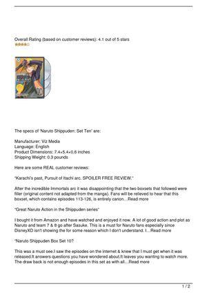 Calaméo - Naruto Shippuden: Set Ten Review