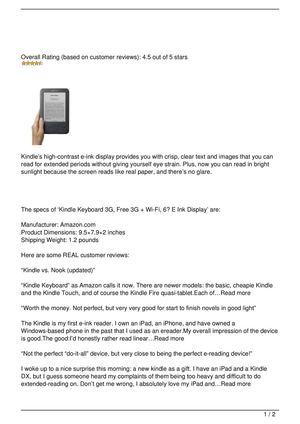 Calaméo - Kindle Keyboard 3G, Free 3G + Wi-Fi, 6″