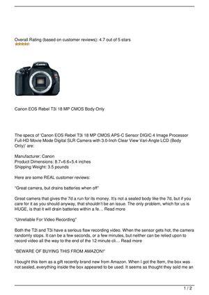 Calaméo - Canon EOS Rebel T3i
