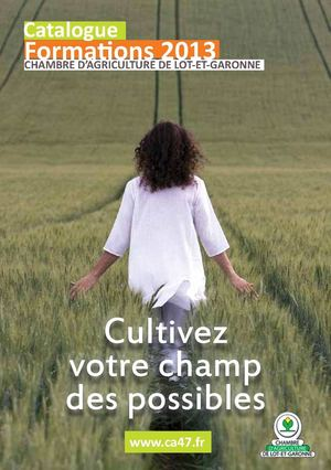 Catalogue des Formations 2013 CA47