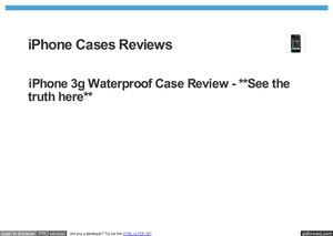 iPhone 3g Waterproof Case Review
