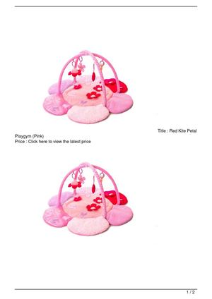 Red Kite Petal Playgym (Pink) SALE