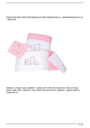 Hello Ernest 4pce Cot/Cot Bed bedding set Big SALE