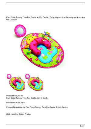 East Coast Tummy Time Fun Beetle Activity Centre Get Rabate