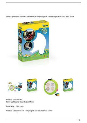 Tomy Lights and Sounds Car Mirror Big Discount