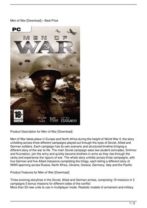 Men of War [Download] Get Rabate