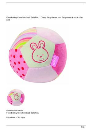 Fehn Bubbly Crew Soft Grab Ball (Pink) SALE