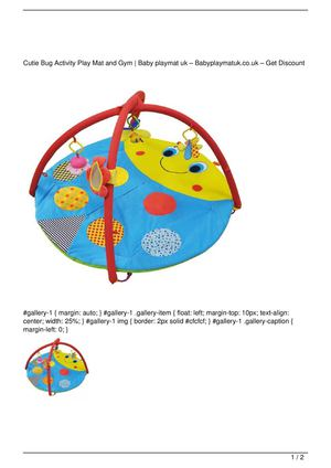 Cutie Bug Activity Play Mat and Gym Get Rabate