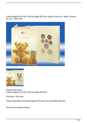 United Kingdom 2012 My First Coins Baby Gift Pack Discount !!