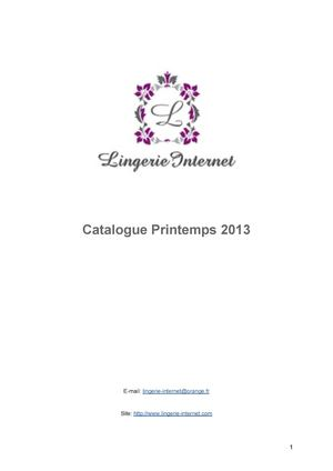 Catalogue Lingerie-Internet