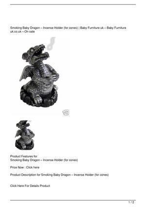 Smoking Baby Dragon – Incense Holder (for cones) On Sale