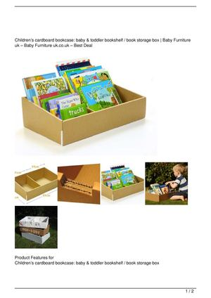 Childrenu0026rsquo;s Cardboard Bookcase: Baby U0026amp; Toddler Bookshelf / Book  Storage Box Get Rabate