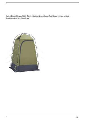 Gelert Brook Shower/Utility Tent – Calliste Green/Sweet Pea/Charc Big Discount