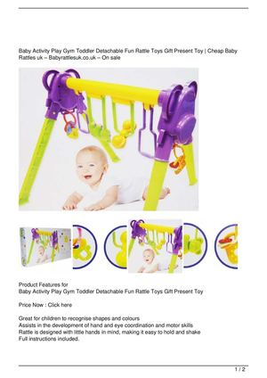 Baby Activity Play Gym Toddler Detachable Fun Rattle Toys Gift Present Toy Big Discount