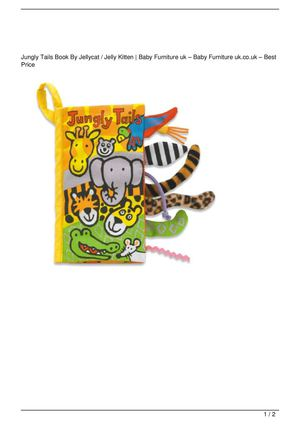Jungly Tails Book By Jellycat / Jelly Kitten Discount !!