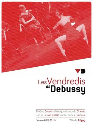 "Brochure des spectacles ""Vendredis de Debussy"" saison 2012-2013"