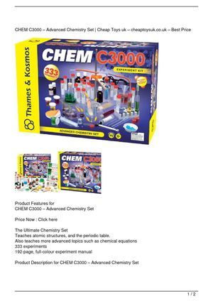 CHEM C3000 – Advanced Chemistry Set Big SALE