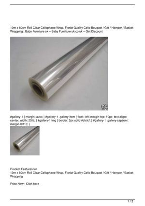 10m x 80cm Roll Clear Cellophane Wrap. Florist Quality Cello Bouquet / Gift / Hamper / Basket Wrapping SALE