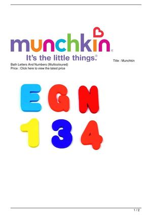 Munchkin Bath Letters And Numbers (Multicoloured) SALE
