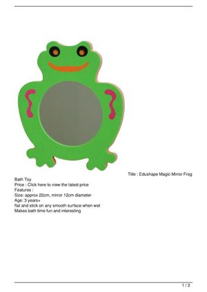 Edushape Magic Mirror Frog Bath Toy Big SALE