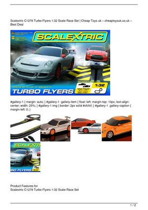 Scalextric C1278 Turbo Flyers 1:32 Scale Race Set On Sale