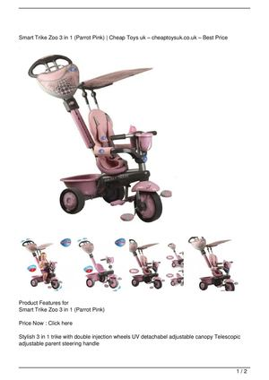 Smart Trike Zoo 3 in 1 (Parrot Pink) Big Discount