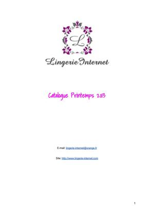 Catalogue Interactif Lingerie-Internet 2013