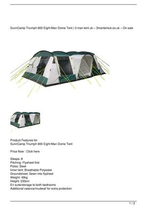 SunnCamp Triumph 800 Eight Man Dome Tent Big Discount