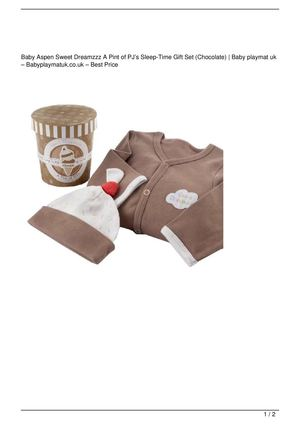Baby Aspen Sweet Dreamzzz A Pint of PJ's Sleep-Time Gift Set (Chocolate) Get Rabate