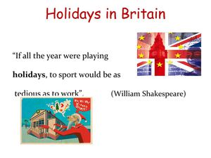 Holidays in Britain презентация