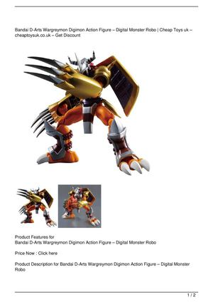Bandai D-Arts Wargreymon Digimon Action Figure – Digital Monster Robo Get Rabate