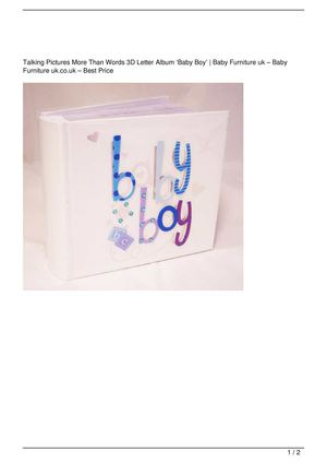 Talking Pictures More Than Words 3D Letter Album 'Baby Boy' Promo Offer