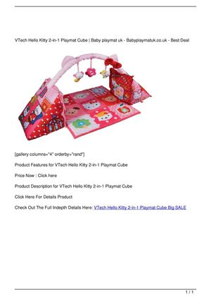 VTech Hello Kitty 2-in-1 Playmat Cube Big SALE