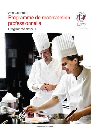 Programme de reconversion professionnelle 2013