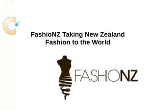 FashioNZ Taking New Zealand Fashion to the World