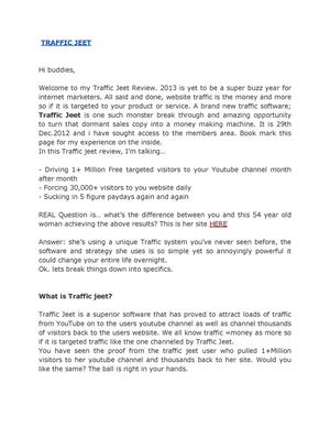 Traffic Jeet Review